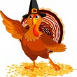 Royalty-Free Stock Imagen vectorial: Thanksgiving Turkey presenting