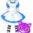Stock Vector: Alice in Wonderland