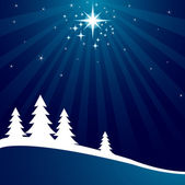 Christmas background with shutting star — Stock Vector