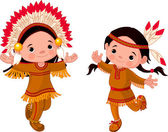 American Indians dancing — Vector de stock