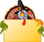 Cartoon Turkey Banner — Stock Vector