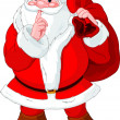 Santa Claus gesturing shush - Stock Vector