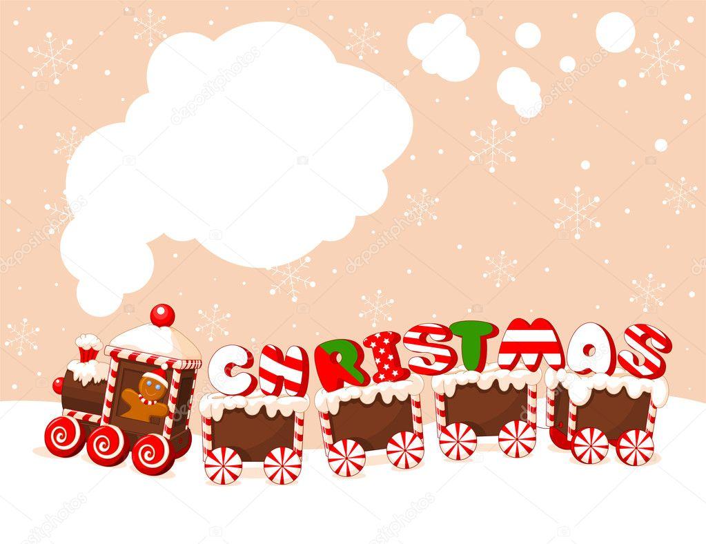 Christmas train background stock vector 169 dazdraperma 7592547
