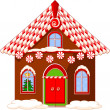 Stock Vector: Christmas house