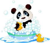 Panda having a bath — Stock Vector