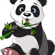Panda eating bamboo — Stock Vector #7820330
