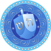 Hanukkah design with dreidel — Stock Vector