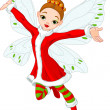 Christmas fairy — Stock Vector