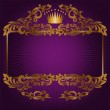Royal symbols on a purple background — Stock Vector
