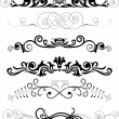 Set of black ornaments — Stock Vector