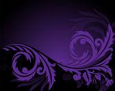 Horizontal purple ornament — Stock Vector