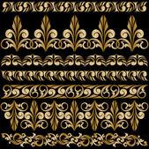 Set of gilt ornaments — Stock Vector