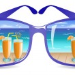 Sun glasses — Stock Vector #7242753