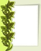 Cartão com folhas verdes — Vetor de Stock