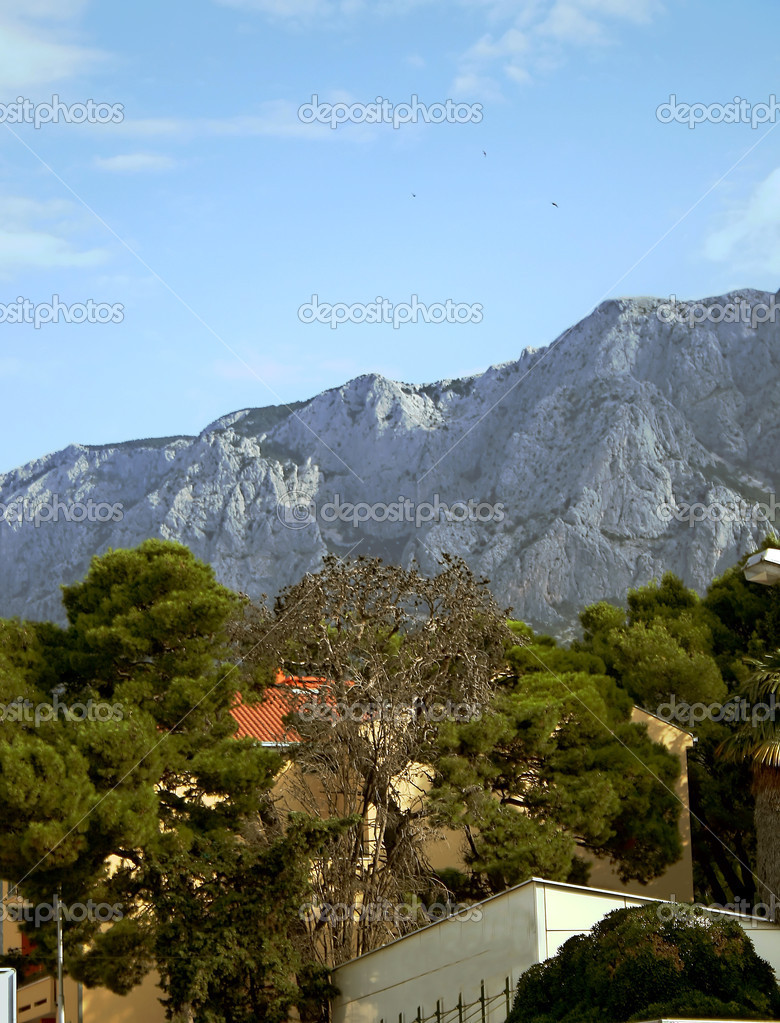Panoramic view of Makarska, Croatia  Stock Photo #6923736