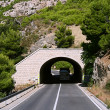 Mountain tunnel is in of Croatia — Stock Photo