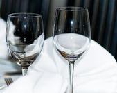 Zarif şarap bardakları — Stok fotoğraf
