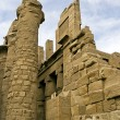 Wall and columns in Karnak, Luxor — Stock Photo