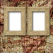 Old wooden frames for photo on the abstract paper background — Stock Photo #6850262