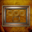 Stock Photo: old wooden frames for photo on the abstract paper background