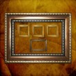 Old wooden frames for photo on the abstract paper background — Stock Photo #6850282