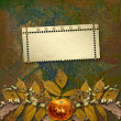 Royalty-Free Stock Photo: Grunge papers design in scrapbooking style with frame and autumn