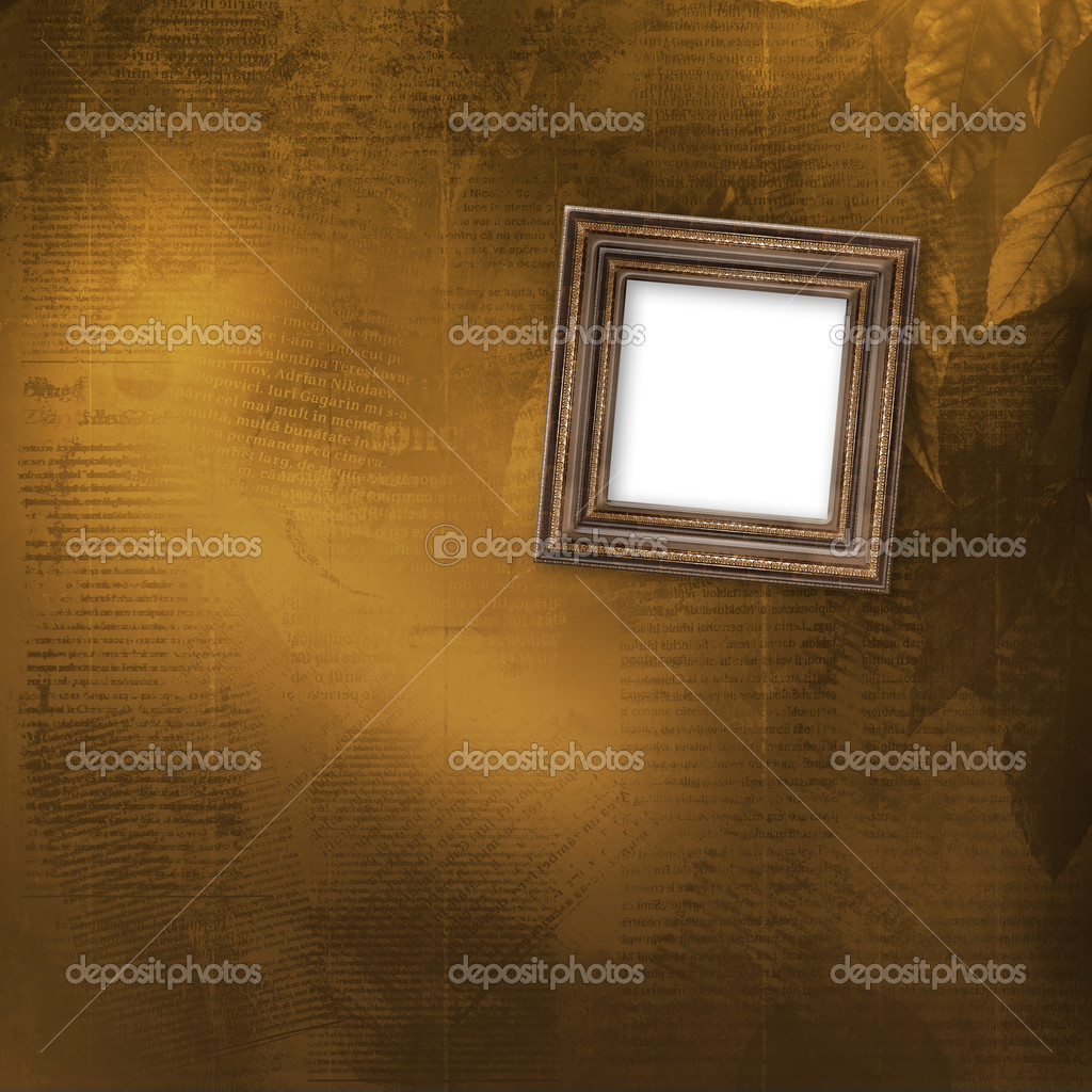 Old wooden frames for photo on the abstract paper background  — Stock Photo #7267587