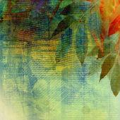 El yazması ile arka plan üzerinde parlak sonbahar yaprakları — Stok fotoğraf