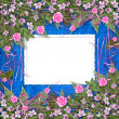 Writing abstract background with frame and floral beautiful bouq — Foto de Stock