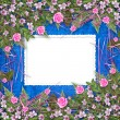 Writing abstract background with frame and floral beautiful bouq — 图库照片