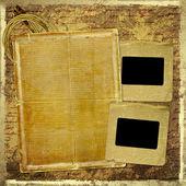 Grunge papieren ontwerp in scrapbooking stijl met leeg voor tekst — Stockfoto