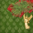 Angel christmas hanging on pine branch. — Stock Photo #7402677