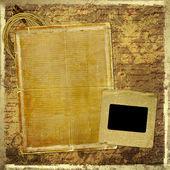Conception de documents grunge en style scrapbooking avec blank pour texte — Photo