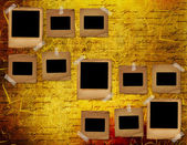 Old grunge slides on the ancient background — Stock Photo