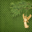 Angel christmas hanging on pine branch. — Stock Photo #7527317