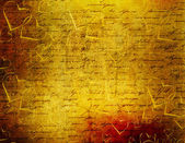 Old paper in grunge style. Abstract background with hearts — Stock Photo