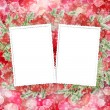 Abstract blur boke background with paper frame and bunch of twig — Stock Photo #7779723