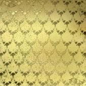 золото гранж-фон с древних цветочный орнамент — Стоковое фото