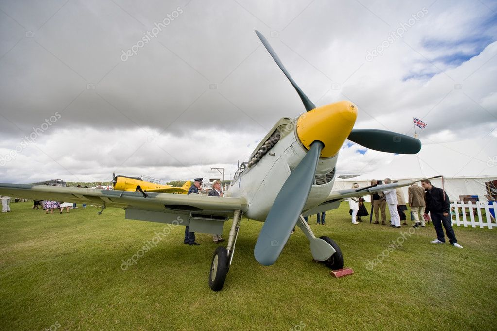 75 Years of the Spitfire celebrated at Goodwood.  Goodwood celebrates its aviation heritage each year at the Revival with some stunning aerial manoeuvres throug — Stock Photo #6887287