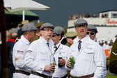 Goodwood revival visitors. — Stock Photo