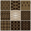 Seamless vintage background set ornate baroque wallpaper — Stock vektor #7072481