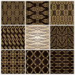 Seamless vintage background set ornate baroque wallpaper - Stock Vector
