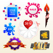 Vector sign collection of sale elements label — Stock Vector #7502628