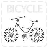 Arrowed bike — Stock Vector