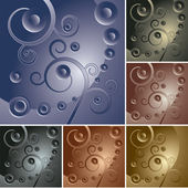 Abstract curly backgrounds — Stock Vector
