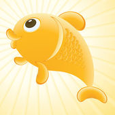 Goldfish illustration — Stock Vector
