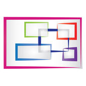 Abstract colored frames — Stock Vector