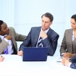 Business in a work meeting in the office — Stock Photo #7122569