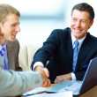 Business shaking hands, finishing up a meeting — Stock Photo #7122662