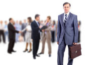 Attractive business - the elite business team — Stock Photo